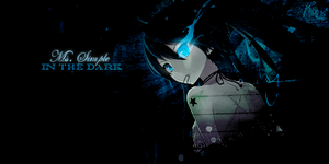 Black Rock Shooter In the Dark by MsSimple