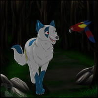 comm:Walk in the woods by Shadow-lightning
