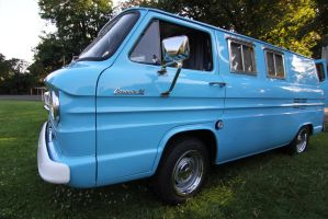 Blue Chevy van by finhead4ever