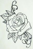 tattoo rose by resonanteye