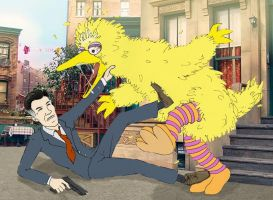 Romney vs. Big Bird by nickagneta