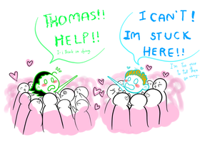 Tom-Loki and the army by TomatoGyoza