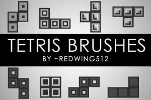 Tetris Brushes by redwing512