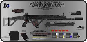 AR-558 Rifle New WIP 4 by Jon-Michael-May