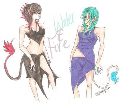 Water and Fire by 9TailedUKE
