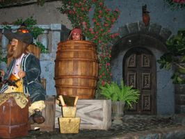 Pirates Ride WDW Inside 4 by WDWParksGal-Stock