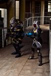 Garrus and Tali cosplay by Nebulaluben