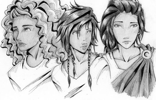 Ladies of Olympus by chrysalisgrey