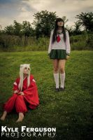 Inuyasha and Kagome resting by BunnyRue