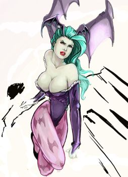 Morrigan WIP by KateMcBlair