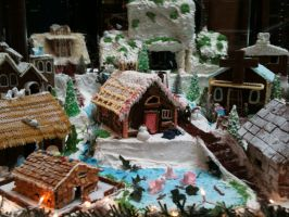 Christmas Village Cake by chrysrawr