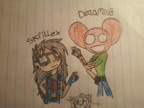 Skrillex and Deadmau5 by sonadowclub543