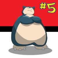 My Top 10 favourite Pokemon #5 Snorlax by the-real-Payne