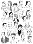 Unavowed character designs by RenieDraws