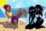 Girls At The Beach by TFAfangirl14