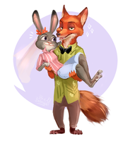 Sweet couple by BanyaBell