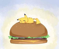 Pikachu Got Burger 2012 by MokonaTenshi