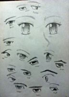 Eye Drawing Practice by TorissaNikole