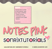 Skin NotesPink for RAINMETER by a-Sonrix