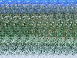 New Year Stereogram Poster by 3Dimka