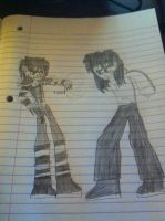 Jeff the killer vs Laughing Jack by Guitarart221