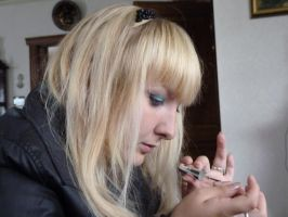 Portrait 3 Nail painting by xNatje-stock
