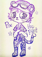 Pox the Pilot Tiger by Whippe