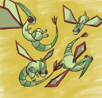 Flygon Poses by Tofiman