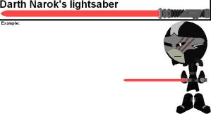 Weapons Try Out - Darth Narok's lightsaber by YellowNinja123