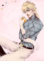 JJBA: Diego Brando and an Orange by cogdis