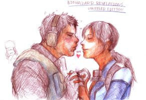 resident evil revelations UE / chris and jill by azamino