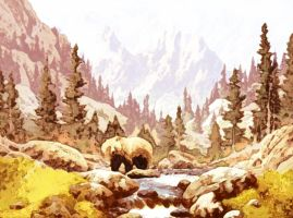 The Grizzly by when-the-watercolor
