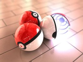 Pokeballs by lorrane12