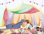 Commission/ Blanket fort by Cassy-F-E