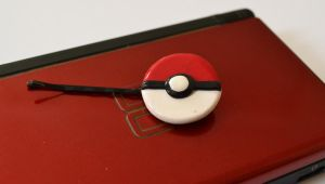 Pokeball Hairclip by WonderRabbit
