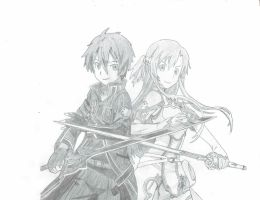 Sword Art Online: Kirito and Asuna by Excalibur49
