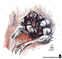 Sketch 041 AntiVenom by MAROK-ART