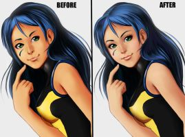 Miranda Before and After by Artgerm by ZeroExile