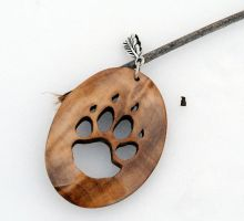 wooden tiger paw pendant by JOVictory