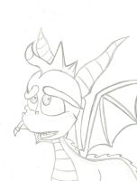 Old Spyro line art by brittinroberts