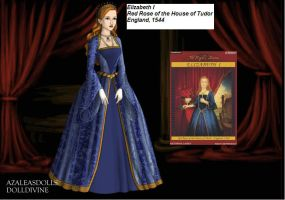 Elizabeth the First,Red Rose of the House of Tudor by disneyfanart1998