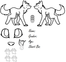 Wolf Reference Base by Core-of-Lore5657