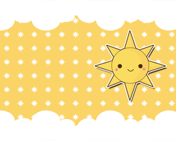 Kawaii Sun Wallpaper by TheHumanHeart