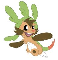 Starter Double Detour: Chespin by SoftMonKeychains