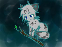 Jayfeather and His Stick by Applemist