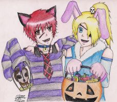 Sasodei Trick or Treat by kyouren