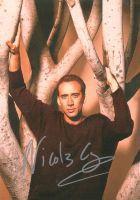 Nicolas Cage signed photo by PALisHERE