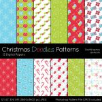 Christmas Doodles Patterns by MysticEmma