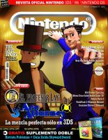 Portada, Cover Professor Layton vs Ace Attorney by MickyFirebird