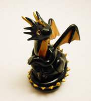 Black and Gold Dice Dragon by Micrackin